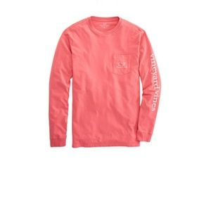 Vineyard Vines Long Sleeve Tee in Lobster Reef